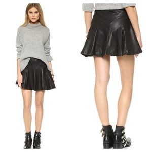 Free People About A Girl Faux Leather Skirt 6